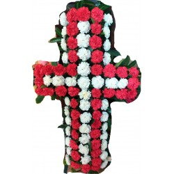 cross with flowers for funeral 1