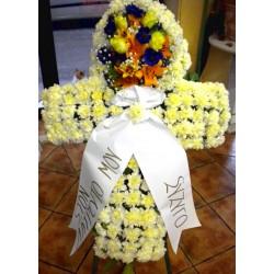 Σταυρός λουλουδιών για κηδεία 2