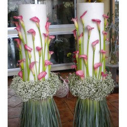 Wedding Candles 4. Flower Shop Anoiksi in Drama