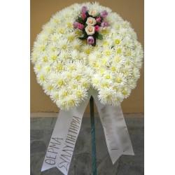 Στεφάνι λουλουδιών για κηδεία 4