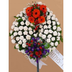 Funeral in Drama, Funeral wreath Drama florists. flowers for funeral